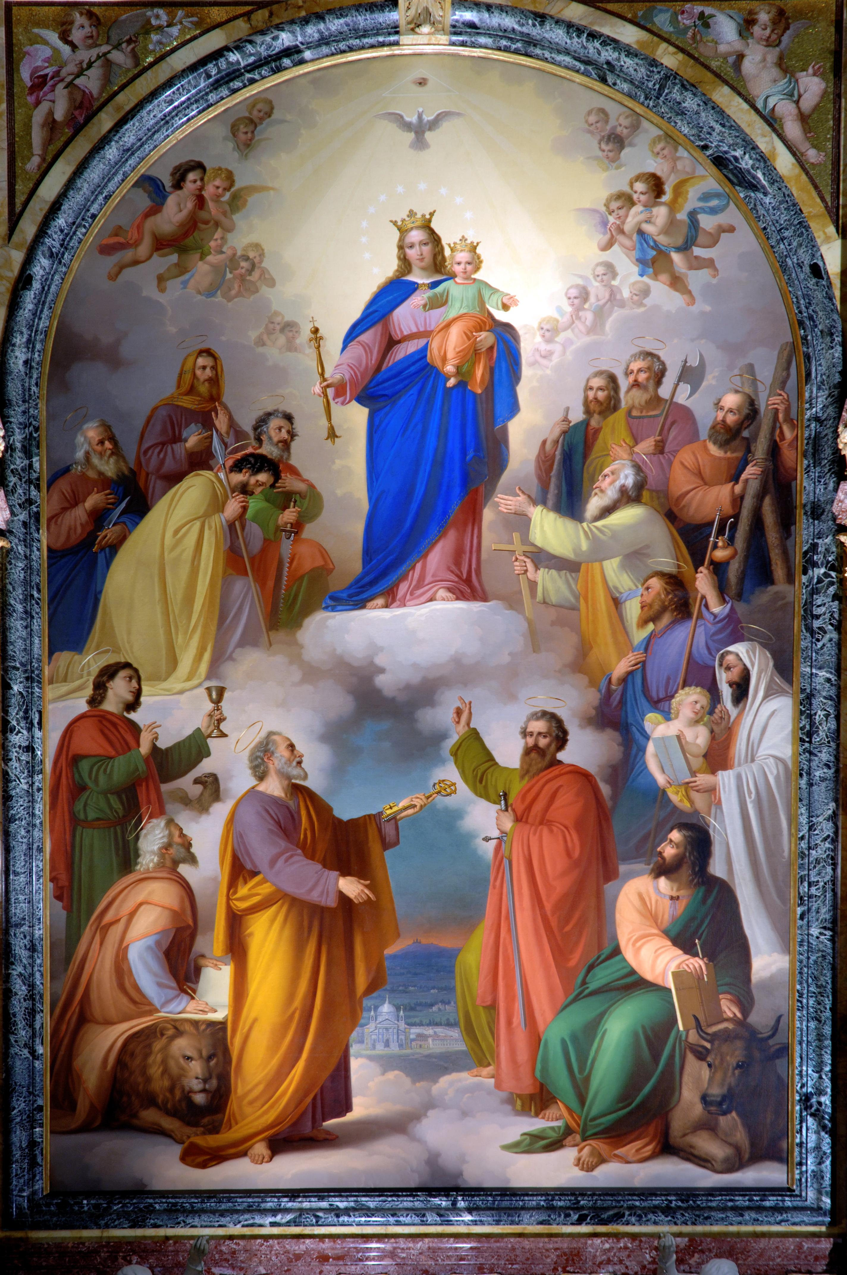 Pala di Maria Ausiliatrice di Tommaso Lorenzone